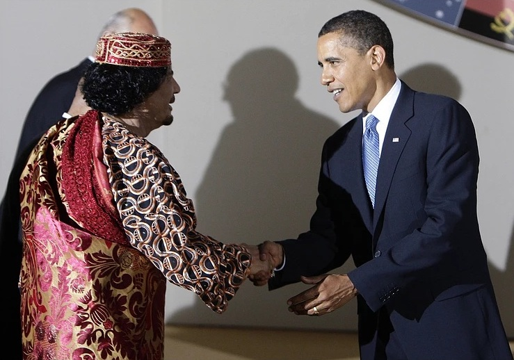 Gaddafi with Obama.jpg