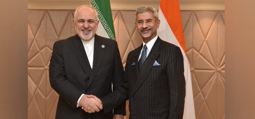 Javad Zarif (L) with Dr S Jaishankar (R).jpg
