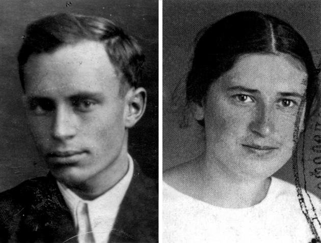 Lev Mishchenko and Svetlana Ivanova, 1936.jpg