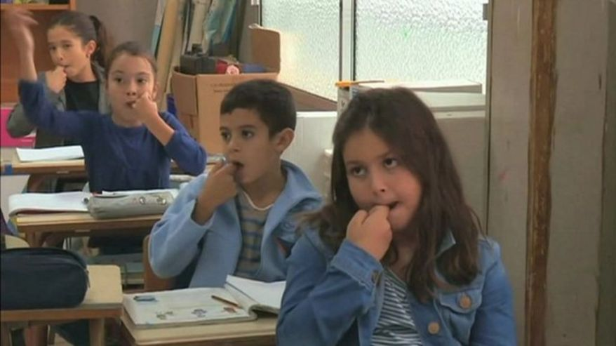 Children learning Silbo Gomero Language.jpg