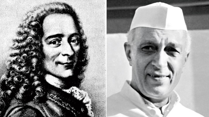 Voltaire & Pandit Nehru.jpg